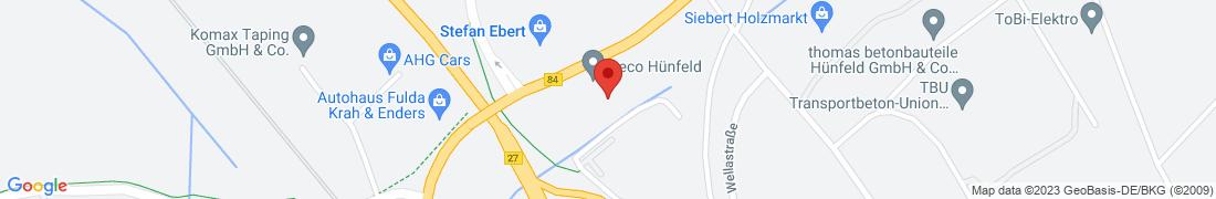 BayWa Tankstelle Hünfeld Anfahrt