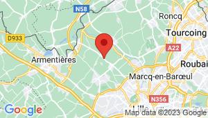 Carte de localisation du centre de contrôle technique VERLINGHEM
