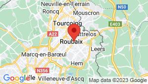 Carte de localisation du centre de contrôle technique ROUBAIX