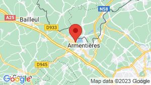 Carte de localisation du centre de contrôle technique NIEPPE