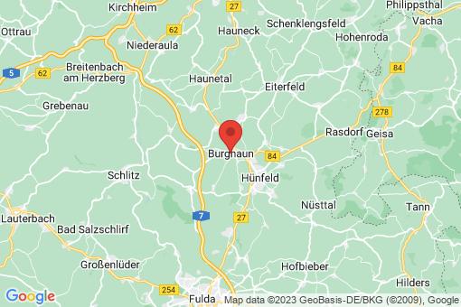 Karte Burghaun