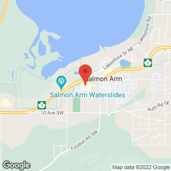 Map of Staples Print & Marketing Services at 3-360 Trans Canada Hwy SW, Salmon Arm, BC V1E 1B6