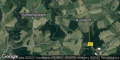 Google Map of Hain bei Zeulenroda
