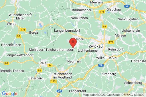 Karte Fraureuth