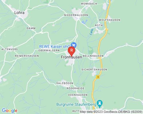 Google Karte von Rohrreinigung Fronhausen