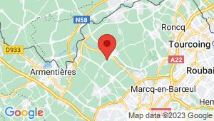 Carte de localisation du centre de contrôle technique QUESNOY SUR DEULE