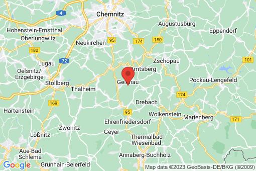 Karte Gelenau/Erzgebirge