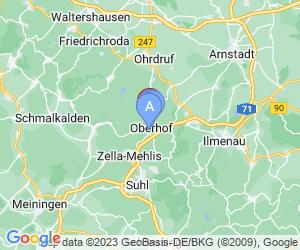 Karte für AHORN Panorama Hotel Oberhof
