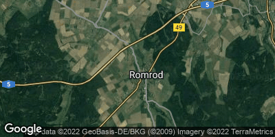 Google Map of Romrod