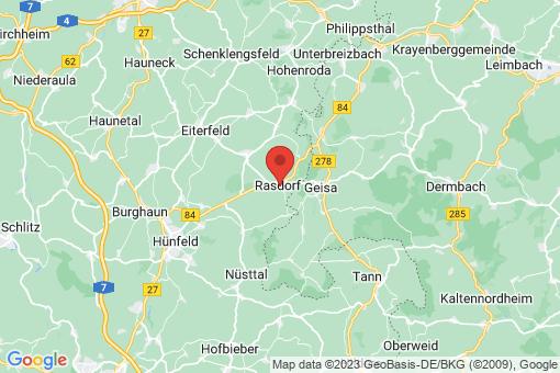 Karte Rasdorf
