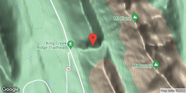 King Creek approach avalanche paths
