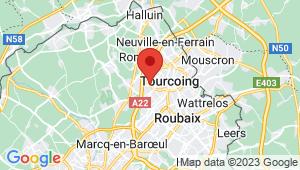 Carte de localisation du centre de contrôle technique TOURCOING