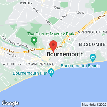 Map of Taco Bell at 146 - 148 Old Christchurch Road, Bournemouth,  BH11NL