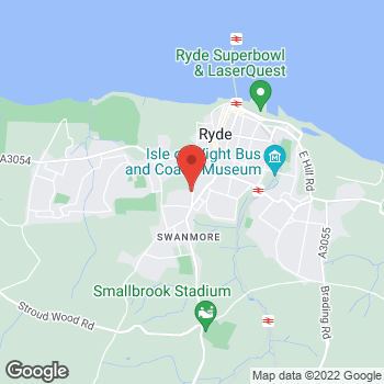 Map of The Co-operative Food Ryde, West Street at 61 - 62 West Street, Ryde, Isle Of Wight PO33 2UH
