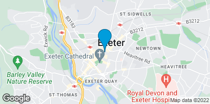 Map of 7 High Street in Exeter