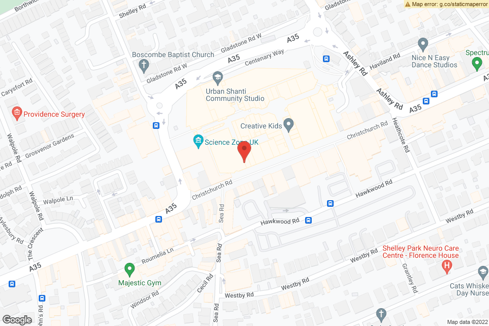O2 Academy Bournemouth, Bournemouth, BH1 4BH map