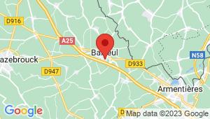 Carte de localisation du centre de contrôle technique BAILLEUL