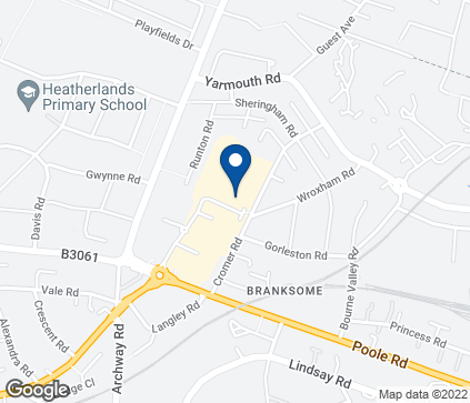 Map of Branksome Retail Park in Redlands