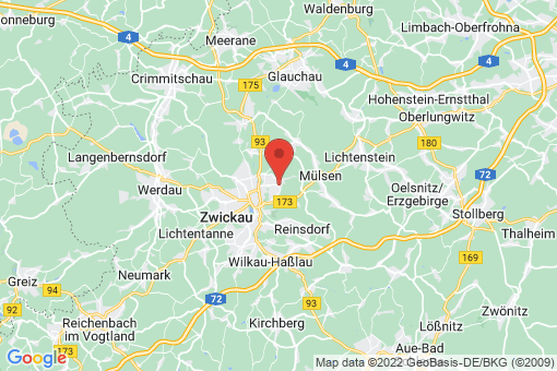 Karte Zwickau