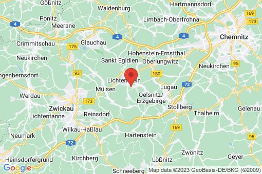 Karte Lichtenstein/Sachsen