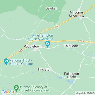 Athelhampton Location