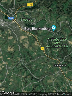 Google Map of Käsberg bei Hennef