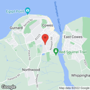 Map of The Co-operative Food Cowes, Mill Hill Road at 155 Mill Hill Road, Cowes, Isle Of Wight PO31 7EL