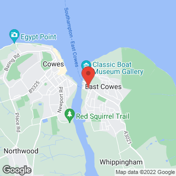Map of The Co-operative Funeralcare at 8-10 Ferry Road, East Cowes, Isle Of Wight PO32 6RA