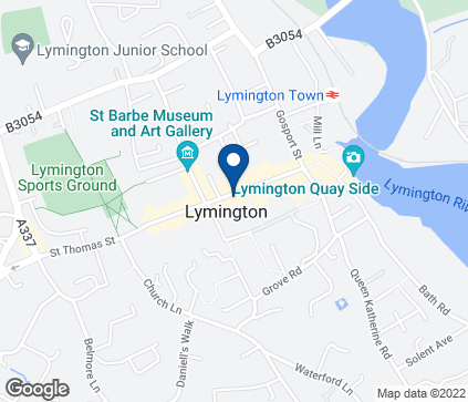 Map of 35 High Street in Lymington