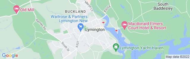 Map Of Lymington