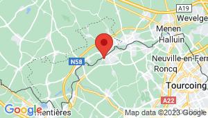 Carte de localisation du centre de contrôle technique COMINES