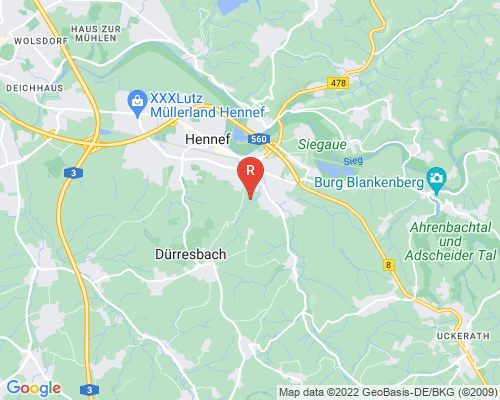 Google Karte von Rohrreinigung Hennef