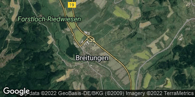 Google Map of Breitungen / Werra