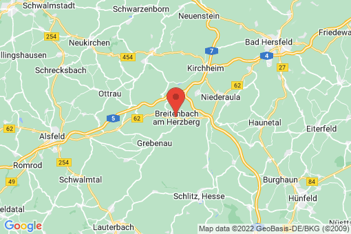 Karte Breitenbach am Herzberg