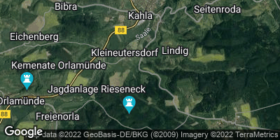 Google Map of Kleineutersdorf