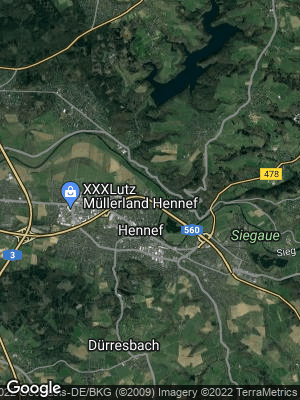 Google Map of Hennef