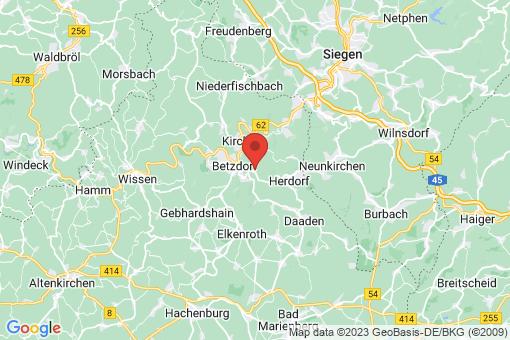 Karte Grünebach