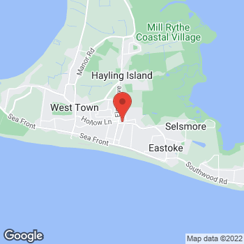 Map of The Co-operative Funeralcare at 20 Mengham Road, Hayling Island, Hampshire PO11 9BL