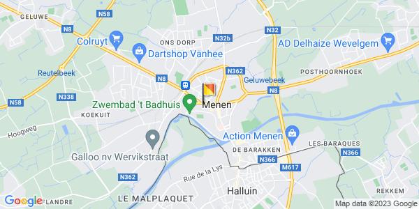 Google Map of 50.7962515, 3.1197367