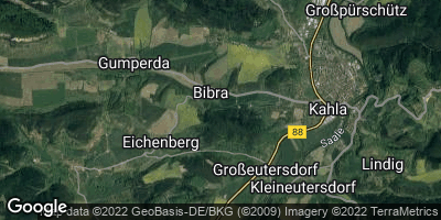 Google Map of Bibra bei Jena
