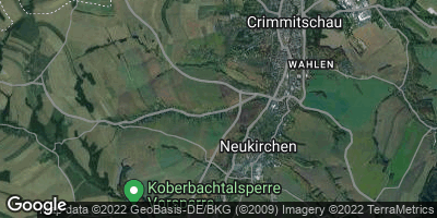 Google Map of Neukirchen / Pleiße