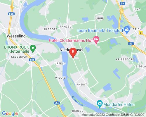 Google Karte von Rohrreinigung Niederkassel