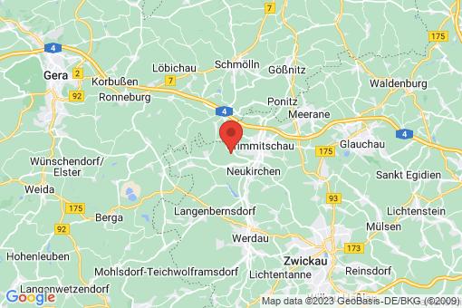Karte Crimmitschau