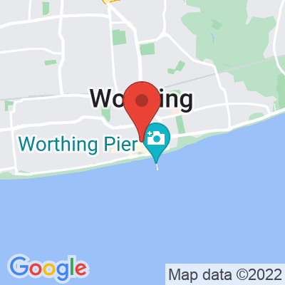 Map showing Hisbe Worthing
