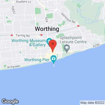 Map of wilko Worthing at Unit 1-8, Worthing,  BN11 1LZ