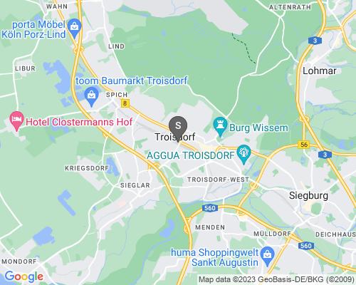 Google Karte von Schlüsseldienst Troisdorf
