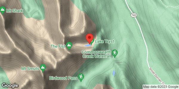 Tryst Lake Chutes
