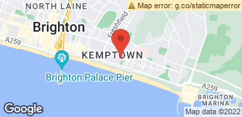 Map of Wendy Kelly Flowers Brighton at 93 St George Road, Brighton, East Sussex BN2 1EE