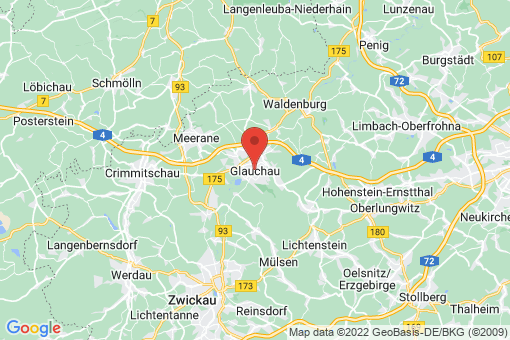 Karte Glauchau