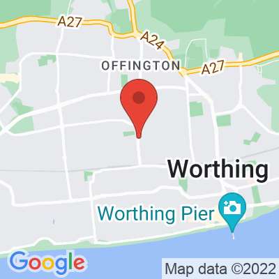 Map showing The Flour Pot Bakery (Tarring)